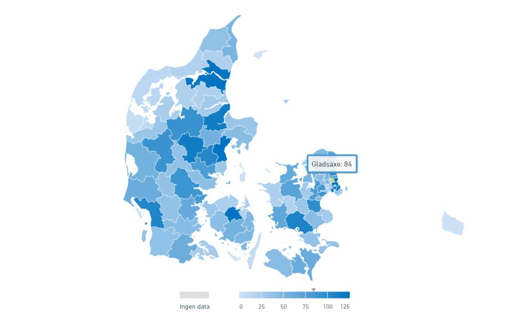 Kort over indbrud i Gladsaxe og Søborg