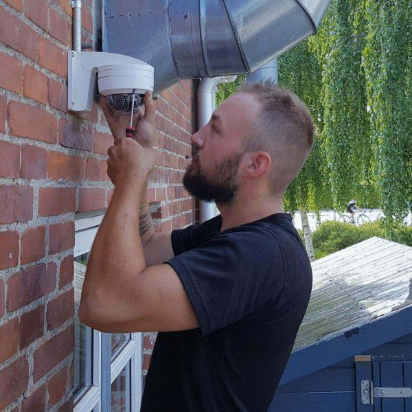 overvågningkamera københavn installeres af dygtig elektriker